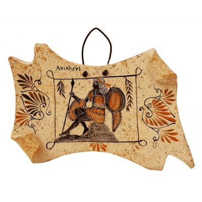 Κεραμικός Πάπυρος 17*13cm Αρχαία Ελληνική τέχνη,Απεικονίζεται ο Αχιλλέας
