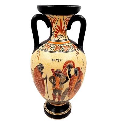 Αμφορέας Αρχαϊκής Περιόδου 31cm, Έκτορας, Πανοπλία, Αχιλλέας Βρισηίδα