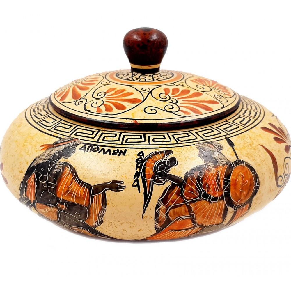 Μπιζουτιέρα 19cm,Αρχαϊκή περίοδος,Αθηνά,Απόλλων,Άρτεμις,Αχιλλέας