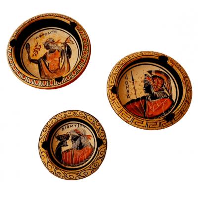 Σετ από 3 Κεραμικά Τασάκια, με 3 Ολύμπιους Θεούς