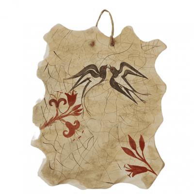 Τοιχογραφία της Άνοιξης,Κεραμική πλάκα  Αντίγραφο