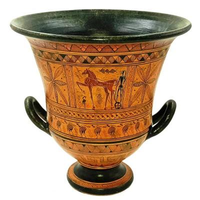 Geometric Krater Vase 26cm,Greek Art Pottery