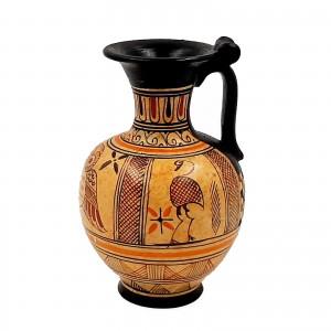 Σετ με 2  Αρχαία Ελληνικά Βάζα 11,5cm,Γεωμετρική Τέχνη