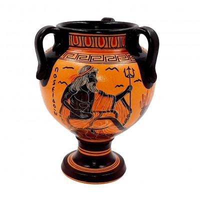 Αμφορέας Αρχαϊκής Περιόδου 17cm τρίχερος, Θεός Ποσειδώνας ,Θεά Αθηνά