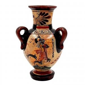 Αμφορέας του Βυθού Αρχαϊκής Περιόδου 17cm τρίχερος,Ποσειδώνας με Αθηνά