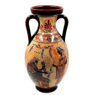 Ancient Greek Pelike,Pottery Vase 31cm,God Zeus with Hera and Dionysus