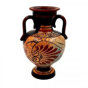 Αρχαίος Ελληνικός Αμφορέας 13cm,Πολύχρωμες αποχρώσεις,Θεός Δίας