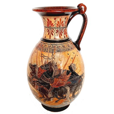 Ancient Greek Vase Jar 36cm,Phaethon and Achilles with Pythia