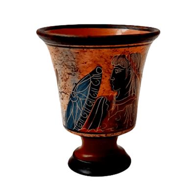 Δίκαιη κούπα του Πυθαγόρα 11cm του βυθού με τον Αχιλλέα