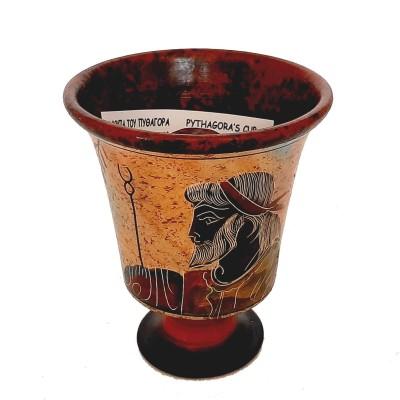 Pythagorean cup,Greedy cup 11cm,Multicolored,Showing God Zeus