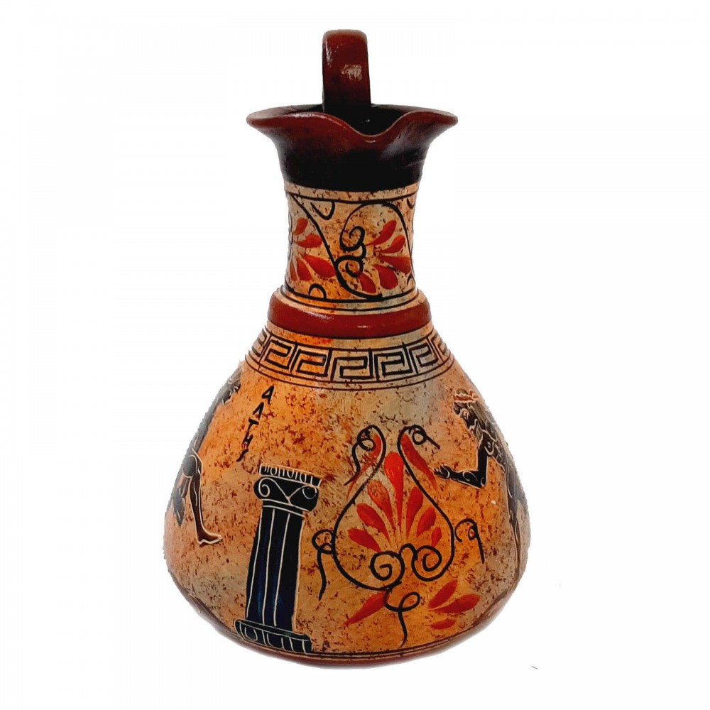 Ancient Greek Jar Vase 19cm,Multicolored,showing themes from Ancient Olympics