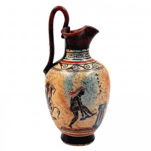Ancient Greek Oinochoe 20cm,Multicolored,themes from Ancient Olympics