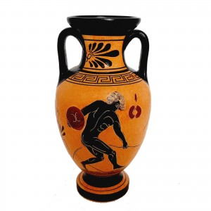 Ancient Greek Pottery Amphora 22cm,shows themes from Ancient Olympics