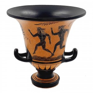 Ancient Greek Pottery Krater 16,5cm,Runners from Ancient Olympics