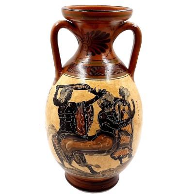 Greek Amphora 31cm,Pottery Vase,Hercules,Centaur and Goddess Athena