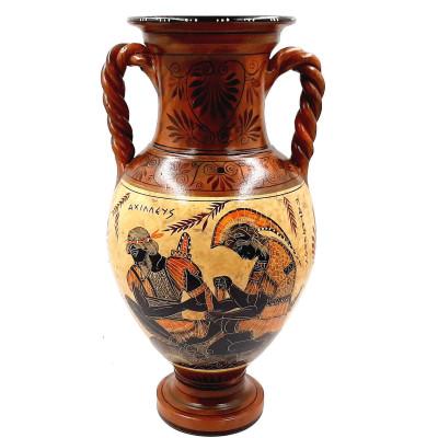 Greek Pottery Vase Amphora 36cm,Showing Achilles and Patroclus