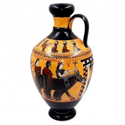 Λήκυθος του Άμαση 31cm Μελανόμορφος, Γαμήλια πομπή