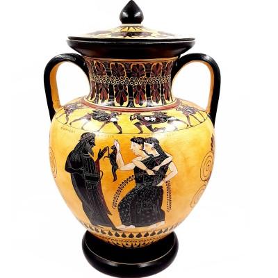 Αμφορέας του Άμαση, Αττικός Μελανόμορφος 46cm, Ο Διόνυσος και οι Μαινάδες