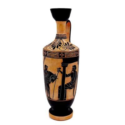 Μελανόμορφος Λήκυθος 26cm  ,του ζωγράφου του Θησέα