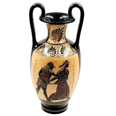 Black Figure Pottery Amphora 30cm,Goddess Aphrodite