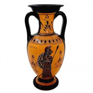 Greek Amphora Vase 22cm,Theseus and the minotaur,Black Figure Pottery