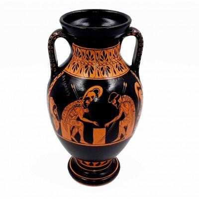 Αμφορέας ζάρι ερυθρόμορφο 22cm με τον Αχιλλέα και τον Αίαντα