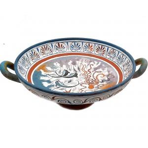 Ancient Greek Kylix 26cm,Minoan Art Pottery