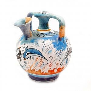 Ψευδόστομος αμφορέας,Κρητική τέχνη, 15cm