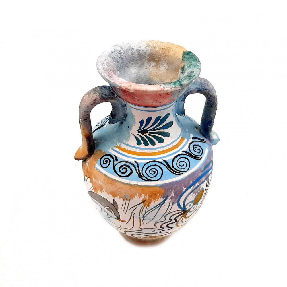 Σετ με 2  Αρχαία Ελληνικά Βάζα 13cm,Κρητική Τέχνη