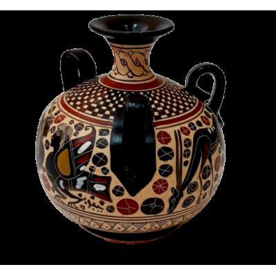 Αμφορέας με 3 χεράκια Κορινθιακής τέχνης 15cm