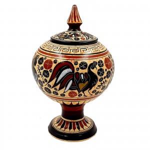 Μπιζουτιέρα κολονάτη  Κορινθιακής τέχνης 19cm